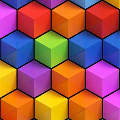 Moquette Imprimée Cubes Couleur 3D