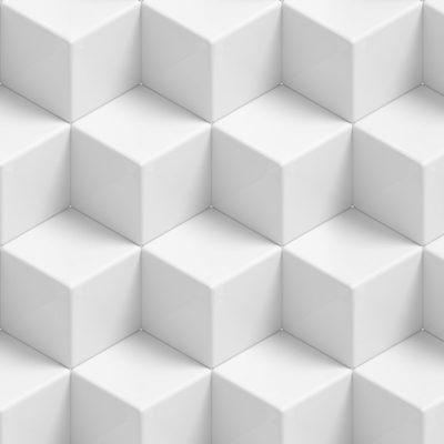 Moquette Imprimée Cubes Blancs