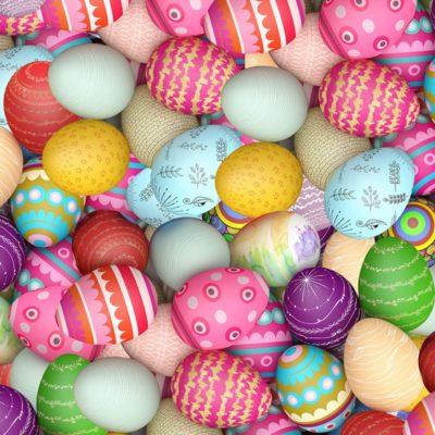 Easterdecor - Moquette imprimée Oeufs de Pâques